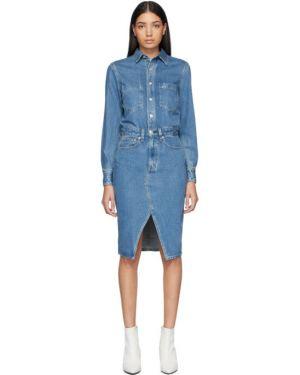 Джинсовое платье макси на пуговицах Rag & Bone