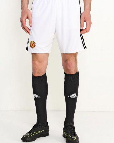 Белые спортивные шорты Adidas