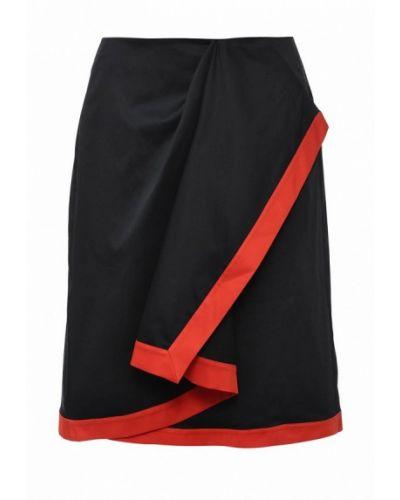 Черная юбка миди Jil Sander Navy