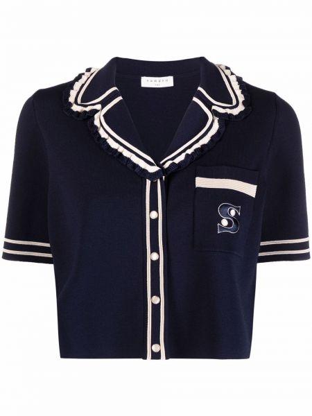 Bluzka z wiskozy - niebieska Sandro