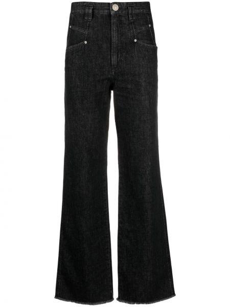 Klasyczne czarne jeansy z wysokim stanem Isabel Marant