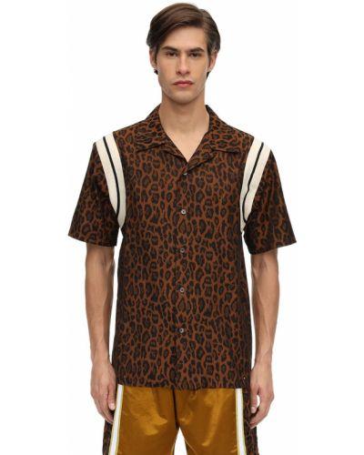 Koszula krótki rękaw bawełniana w paski Just Don
