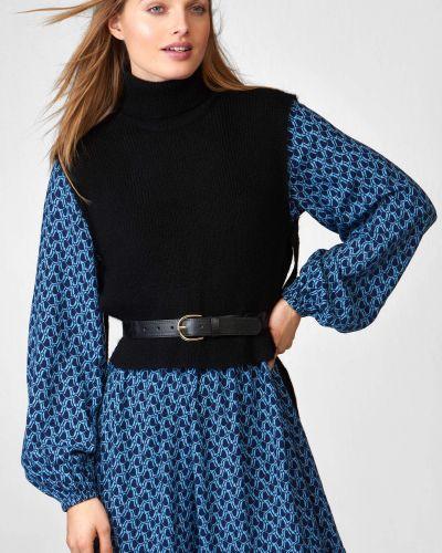 Czarny sweter wełniany bez rękawów Orsay
