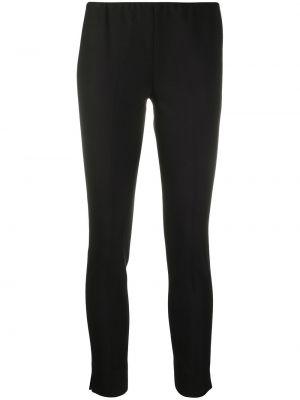 Шерстяные черные укороченные брюки узкого кроя Antonelli