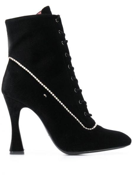 Кожаные черные сапоги на шнуровке Les Petits Joueurs