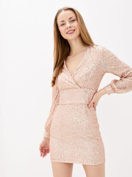 Вечернее платье осеннее розовое Imocean