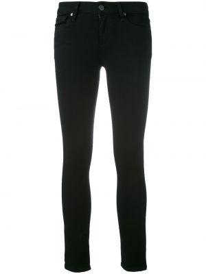 Черные зауженные джинсы из вискозы Paige