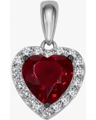Кулон из серебра красный Valtera