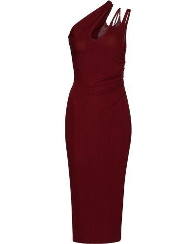 Трикотажное платье миди Mugler