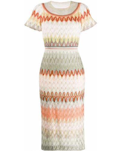 Платье мини розовое миди Missoni