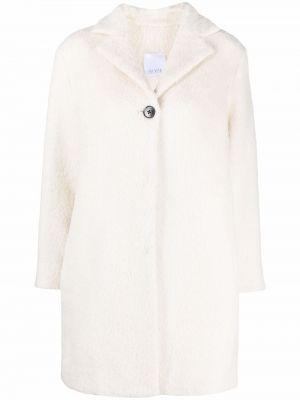 Шерстяное пальто - белое Bevza