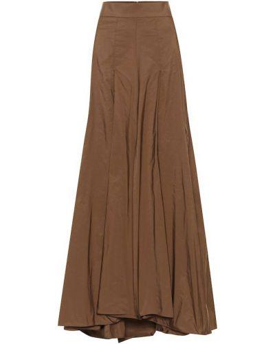 Włókienniczy brązowy spódnica maxi Brunello Cucinelli