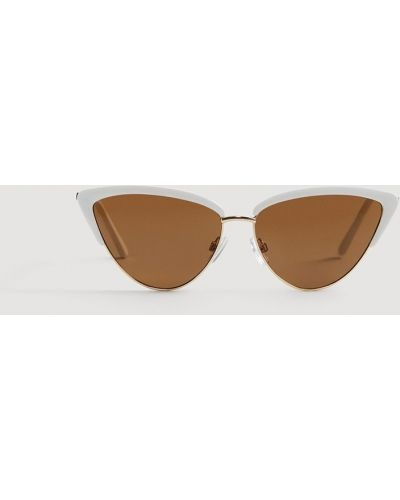 Солнцезащитные очки кошачий глаз металлические Mango