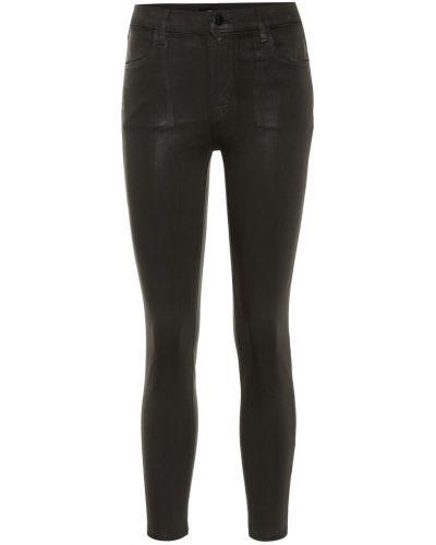 Zawężony bawełna bawełna czarny obcisłe dżinsy J-brand