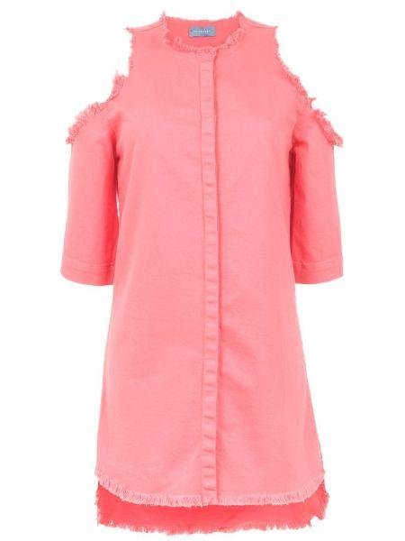 Джинсовое платье розовое на пуговицах Olympiah