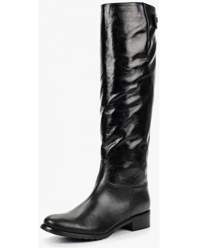 Кожаные сапоги осенние на каблуке Enzo Logana