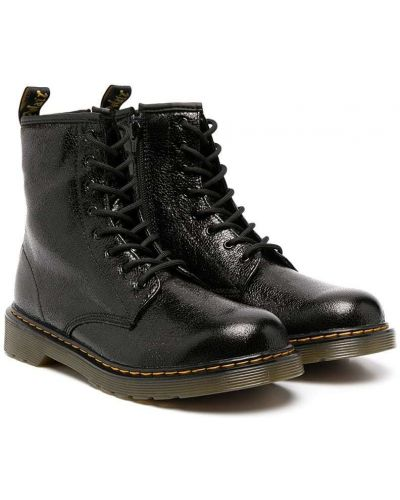 Черные ботинки на шнуровке Dr. Martens Kids