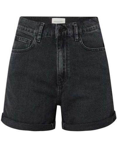 Czarne szorty jeansowe bawełniane Armedangels