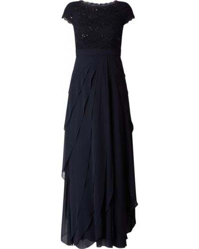 Sukienka wieczorowa rozkloszowana koronkowa z cekinami Christian Berg Cocktail