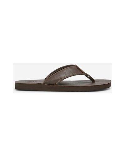Brązowe sandały w paski Marc O Polo