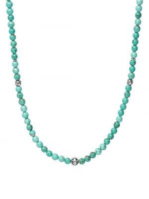 Naszyjnik srebrny turkusowy Nialaya Jewelry