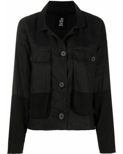 Ватная черная джинсовая куртка с воротником Thom Krom