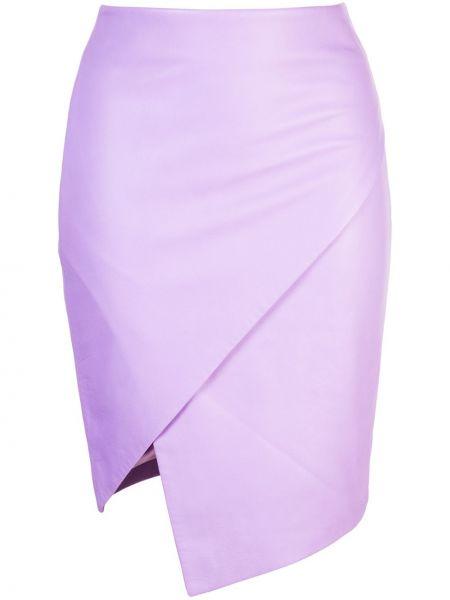 Облегающая фиолетовая юбка с запахом на молнии Michelle Mason