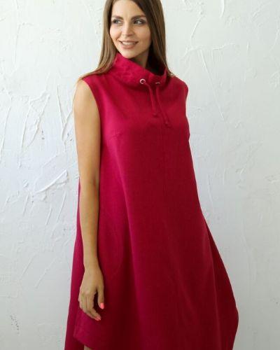 Прямое платье миди бохо без рукавов Ellcora