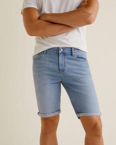 Джинсовые шорты хлопковые с карманами Mango Man