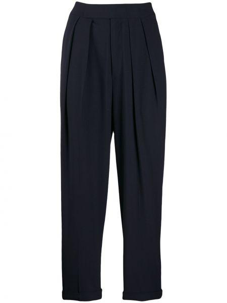 Spodnie z wysokim stanem - niebieskie Enfold