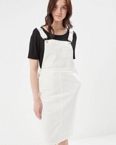 Белое джинсовое платье Mango