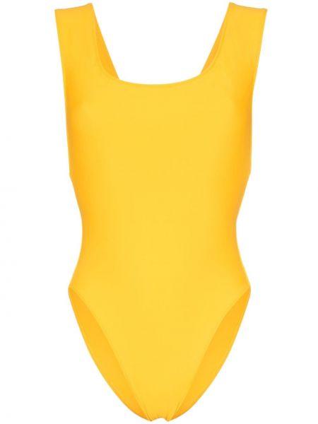 Слитный купальник с вырезом желтый Araks