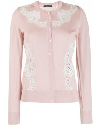 Кардиган на пуговицах розовый Dolce & Gabbana