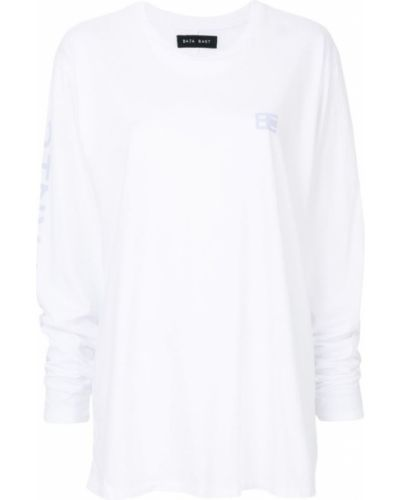 Белая хлопковая футболка Baja East
