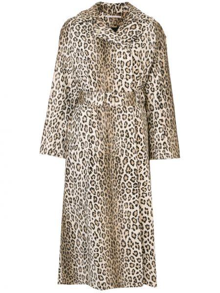 Коричневое пальто с капюшоном свободного кроя Emilia Wickstead