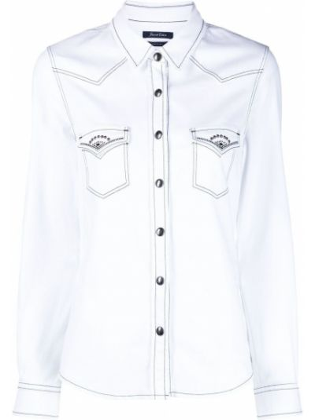 Хлопковая белая рубашка с воротником Jacob Cohen