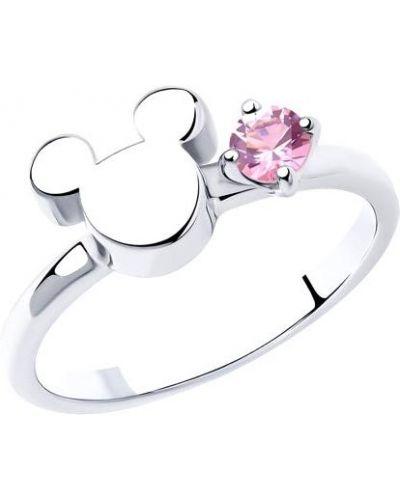 Микки маус серебряное кольцо с декоративной отделкой Sokolov