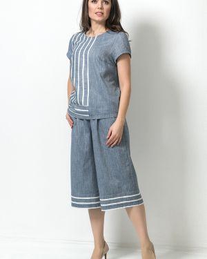Повседневные укороченные брюки с карманами свободного кроя на молнии Modellos