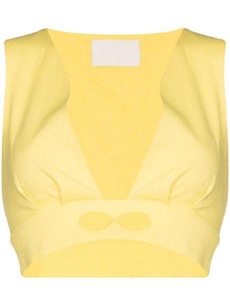 Żółta koszulka z wiskozy Racil