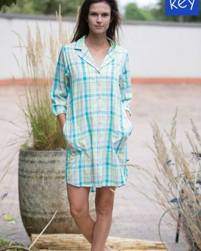 Платье рубашка - зеленое Key