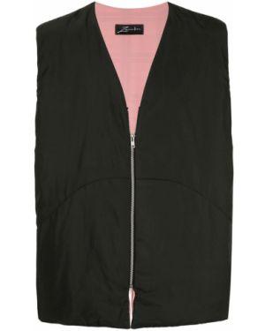 Черная жилетка на молнии с вышивкой Zambesi