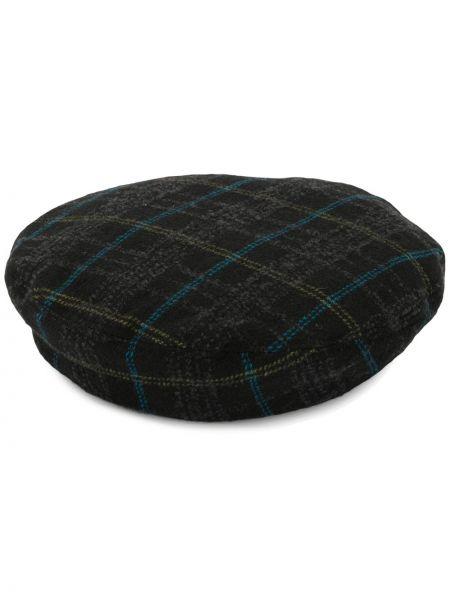 Wełniany czarny beret Undercover