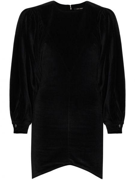 Приталенное черное платье мини с вырезом Isabel Marant