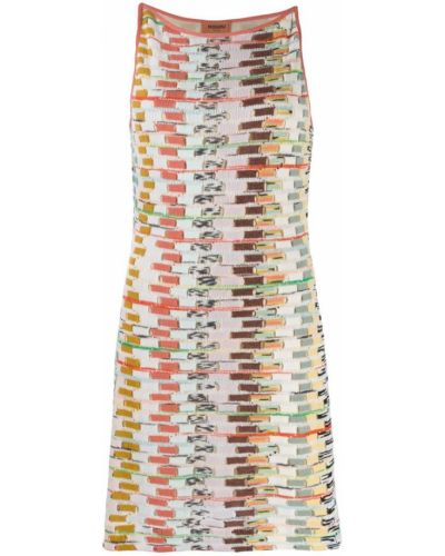 Платье мини розовое с вырезом Missoni