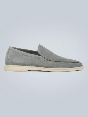 Повседневные кожаные белые кожаные туфли Loro Piana