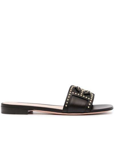 Czarne złote sandały Bally