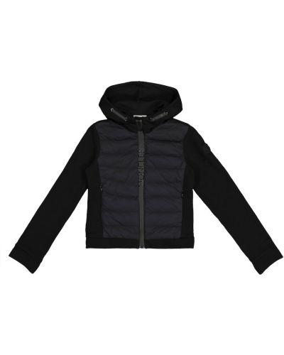Стеганая пуховая белая куртка Moncler Enfant