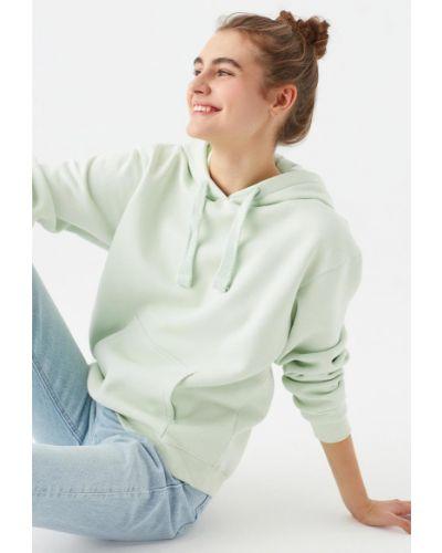Зеленая хлопковая кофта Mavi