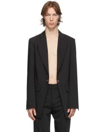 Шерстяной черный костюм для полных Ludovic De Saint Sernin