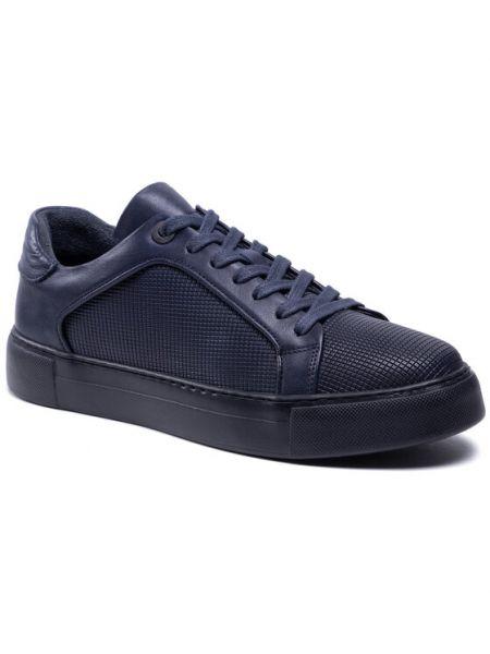 Sneakersy - granatowe Badura